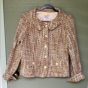 VINTAGE- tan wool blazer size large